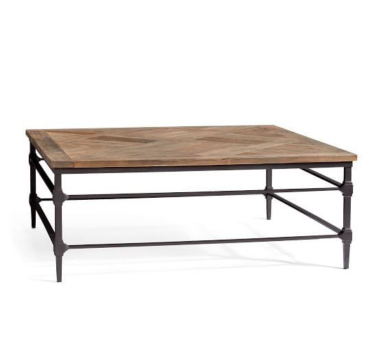 Parquet 46 Square Reclaimed Wood Coffee Table Pottery Barn