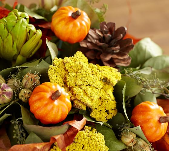 Live Cornucopia Arrangement Artificial Flowers Pottery Barn