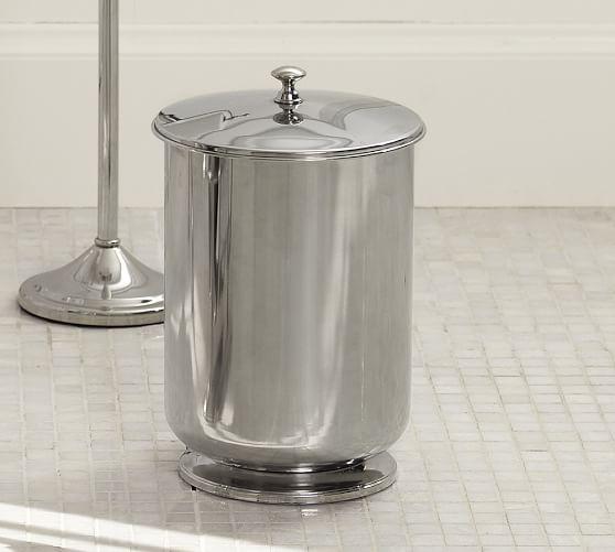 mercer lidded trash can