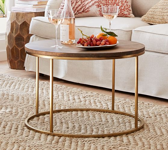 Delaney 25 Round Coffee Table Pottery Barn