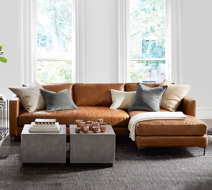 jake leather sofa chaise sectional