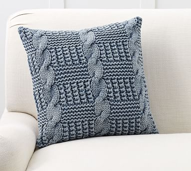stonewash chunky knit pillow cover
