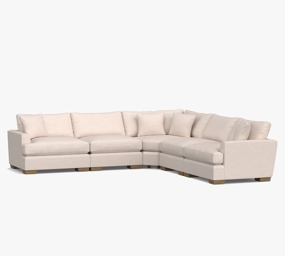 sullivan fin arm deep seat upholstered 5 piece sectional with wedge