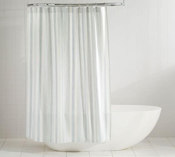 hawthorn stripe cotton shower curtain