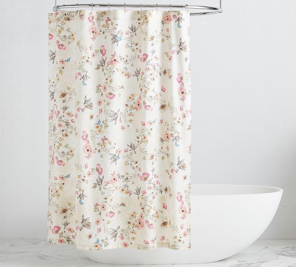 monique lhuillier tuileries organic shower curtain