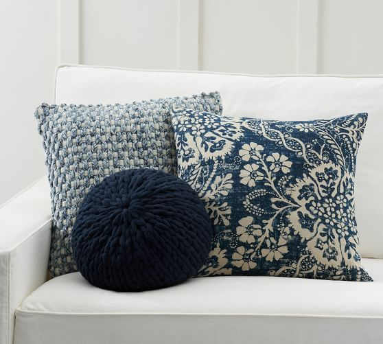 shades of blue pillow cover set
