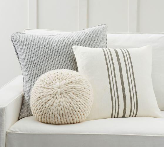 modern stripe gray pillow cover set