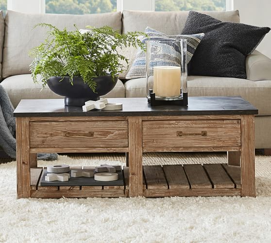 parker 50 reclaimed wood coffee table