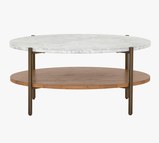 modern 36 oval marble coffee table