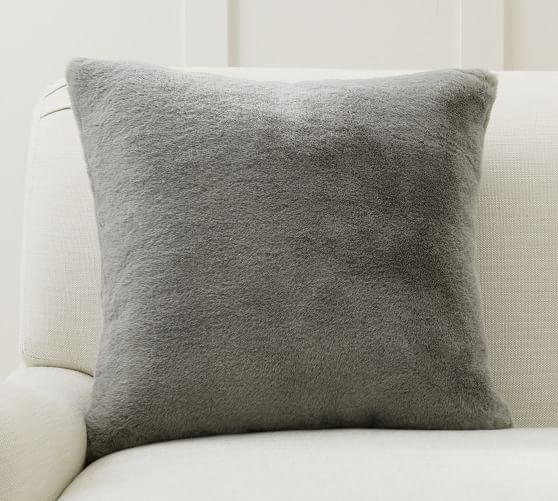 chateau faux fur pillow cover