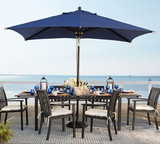 premium 10 rectangular sunbrella outdoor umbrella rustproof aluminum tilt frame bronze