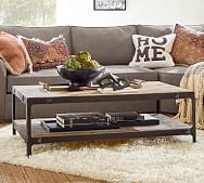 reclaimed rustic coffee table pottery