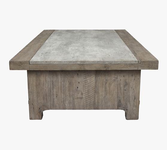 gordon 66 rectangular reclaimed wood coffee table