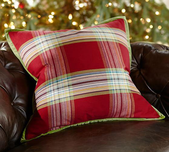 velvet trim decorative pillow cover