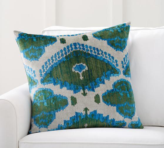 audrey ikat printed velvet decorative