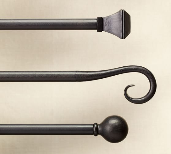 cast iron scroll finial curtain rod