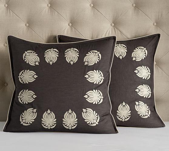 camilla embroidered euro pillow sham