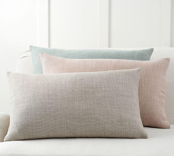belgian linen lumbar pillow cover