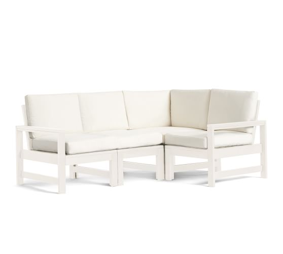 build your own indio collection x polywood sectional components vintage white