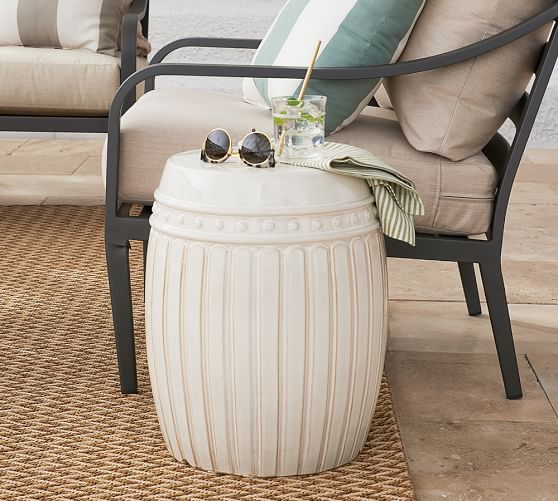 reeded 14 5 ceramic side table