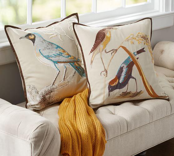 scientific bird embroidered decorative