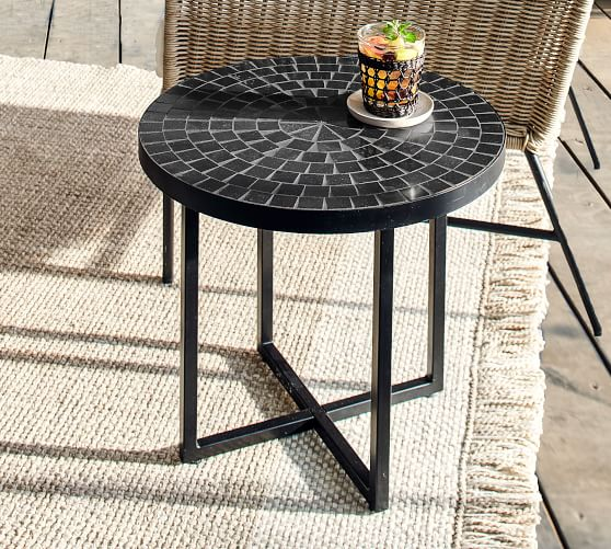 black tile 20 side table pottery barn