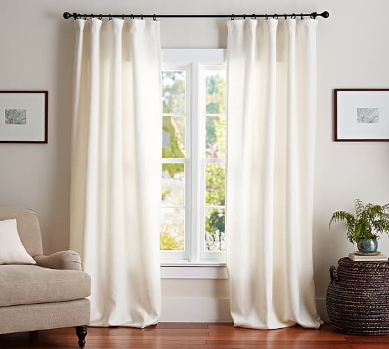 belgian linen rod pocket curtain made with libeco