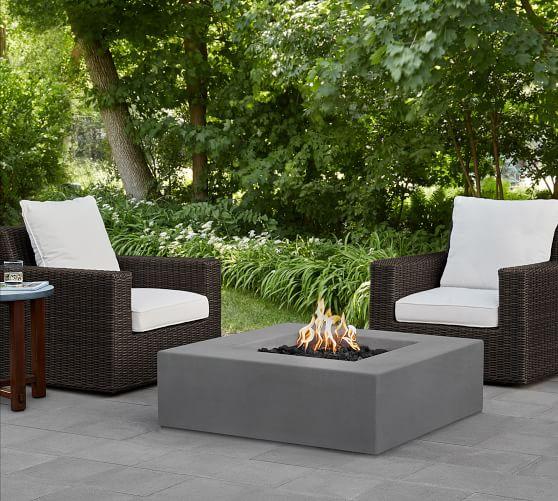 abbott concrete 40 square low natural gas fire pit table