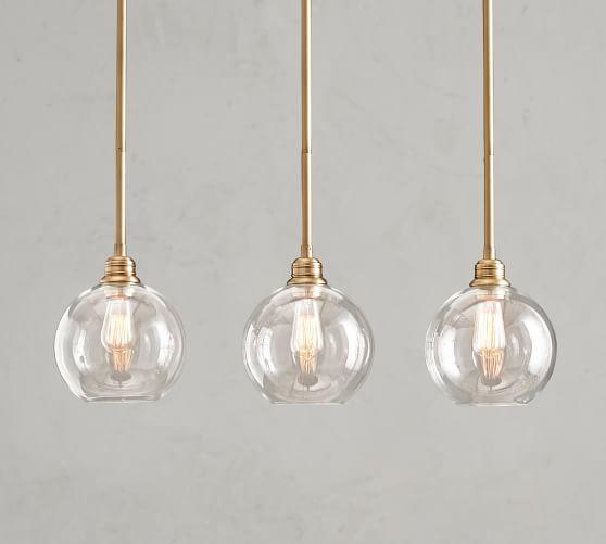 glass globe 3 light pendant