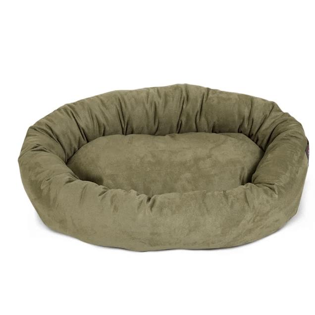 https www petco com shop en petcostore product majestic pet sage suede bagel dog bed