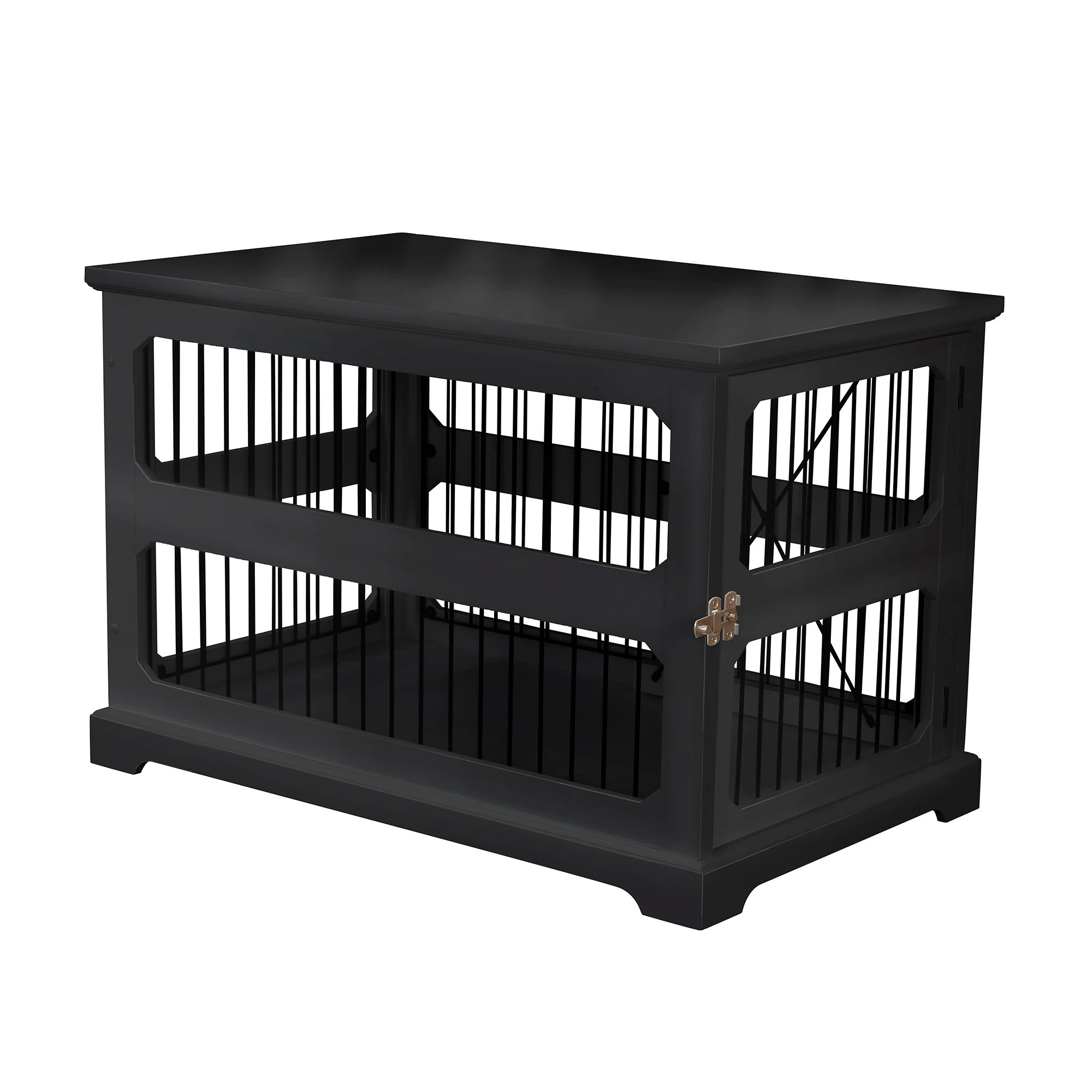 zoovilla slide aside crate and end table in black 35 43 l x 21 65 w x 23 5 h