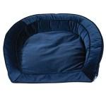 La Z Boy Tucker Blue Velvet Sofa Dog Bed 33 L X 30 W Petco