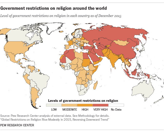 India Is The Fourthworst Country In The World For Religious - India religion map