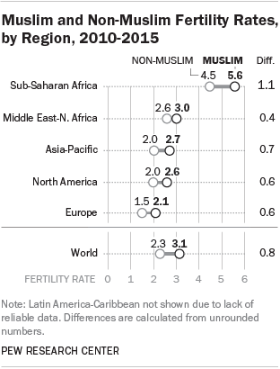 Muslim and Non-Muslim Fertility Rates