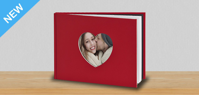 A4 Love Heart Book