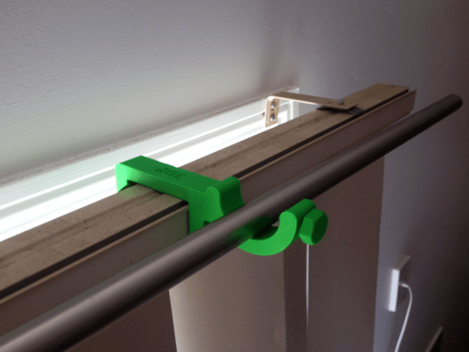 3d printed curtain rod holder for
