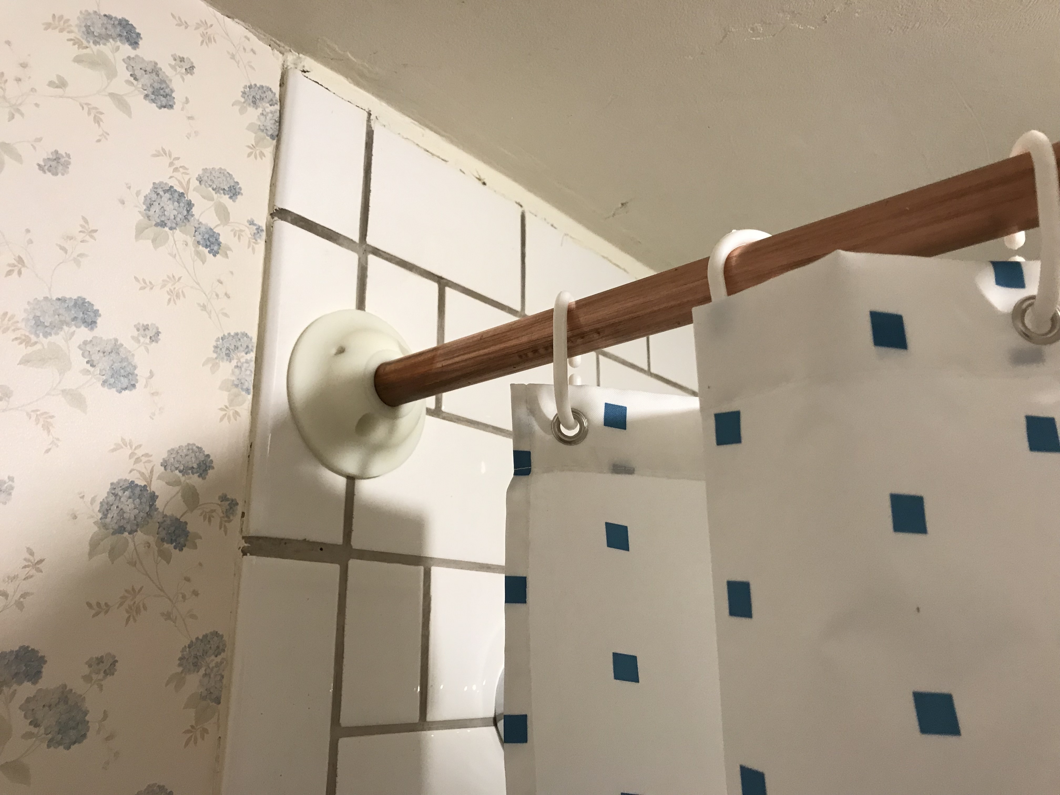 3d printed shower curtain rod mounting
