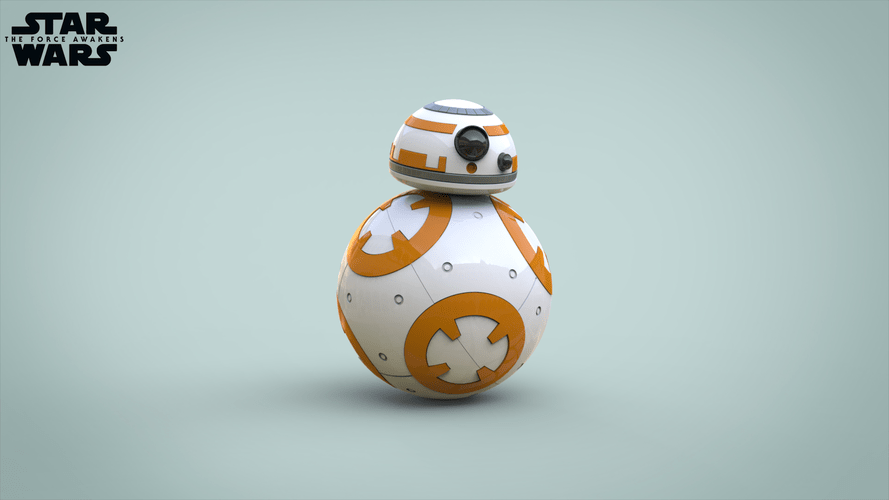 3D Printed BB8 DROID - STAR WARS: THE FORCE AWAKENS by ...