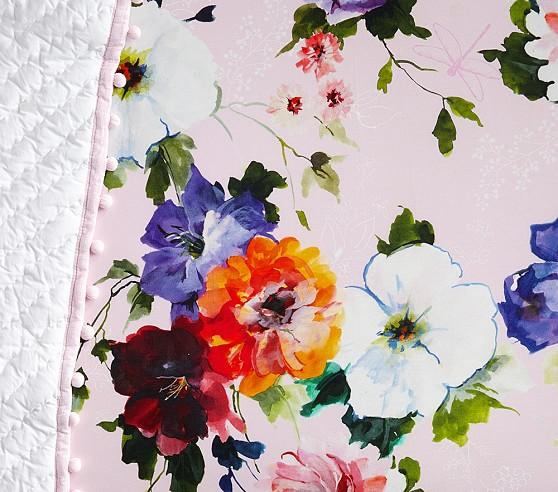 organic hannah floral crib sheets