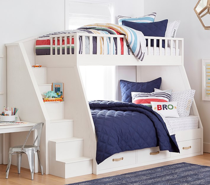 collins twin over full stair bunk bed