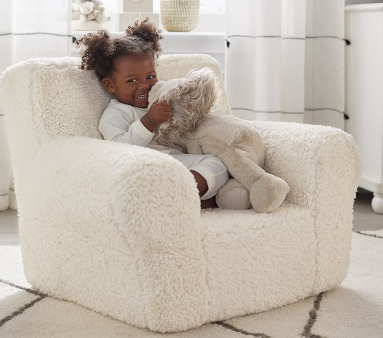 cream sherpa anywhere chair