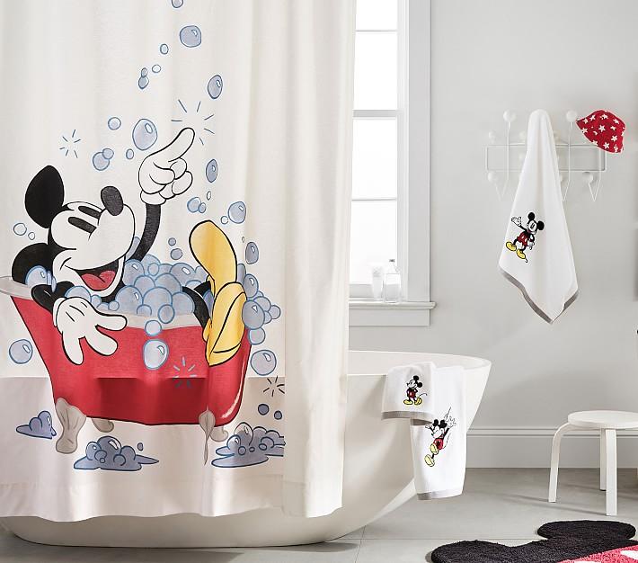 disney mickey mouse bath set towels shower curtain bath mat