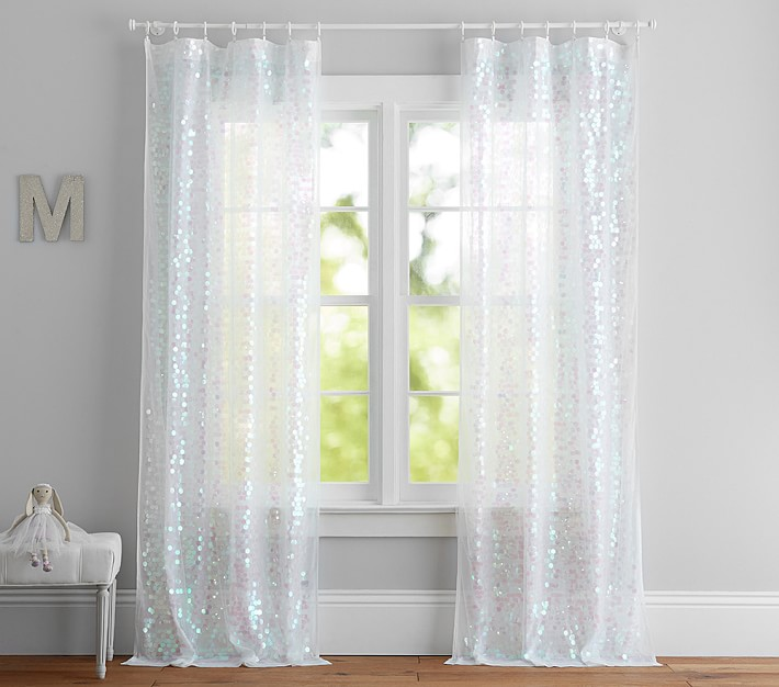 sequin kids sheer curtain pottery
