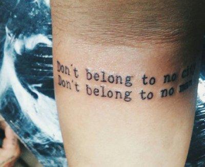 Lyric Tattoos! | Halsey - Hurricane - 21+ Stunning Lyric ...