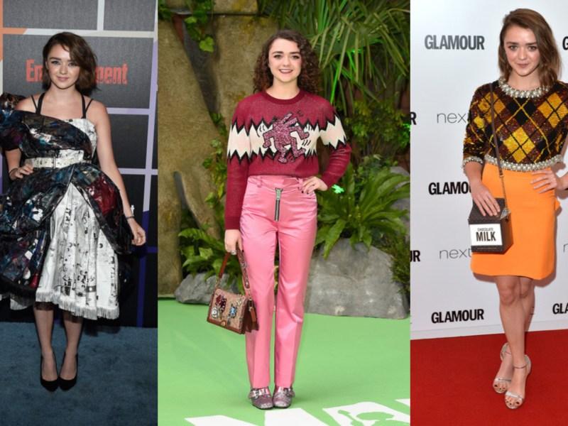 Top 12 des pires looks de Maisie Williams (Game Of Thrones)