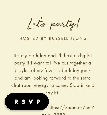 spring party invitations send online