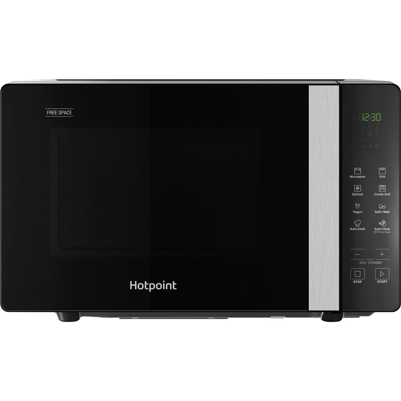 hotpoint free space mwhf203b 20 litre microwave with grill black