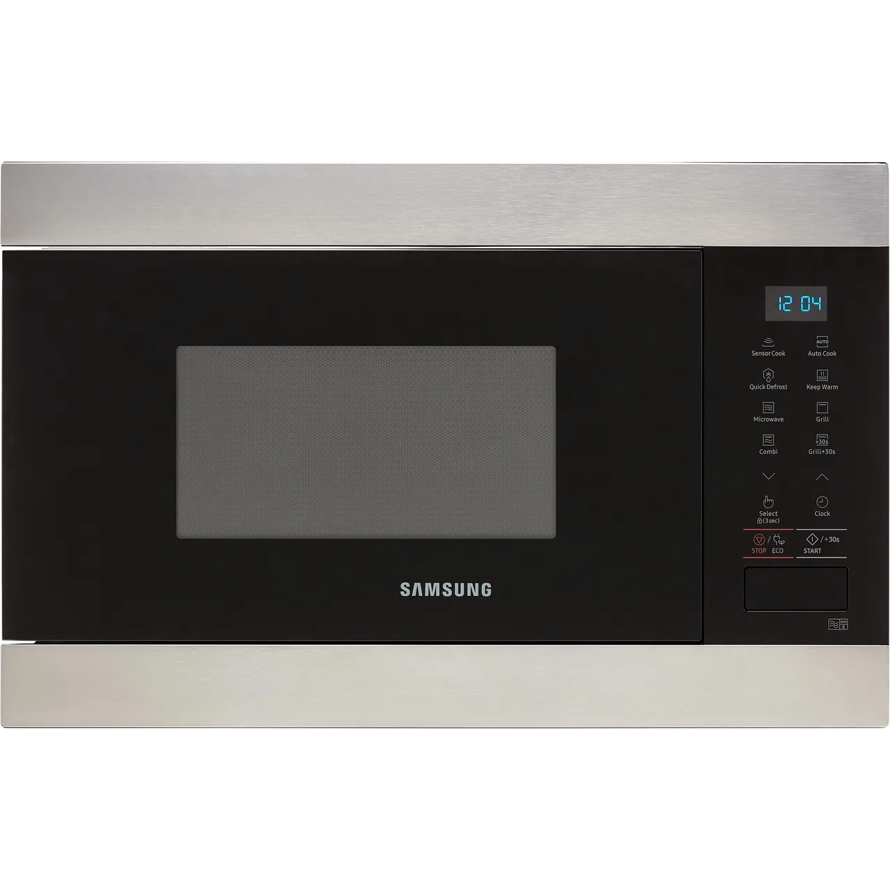 samsung mg22m8074at built in microwave with grill stainless steel