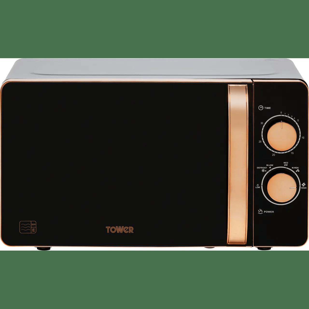 tower t24020 20 litre microwave black
