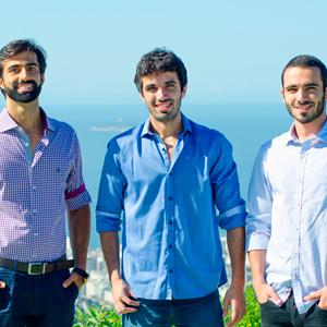 Os sócios Victor Sidoni, Rodrigo Lopes e Yago Lopes